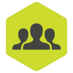 icon of group of 3 people